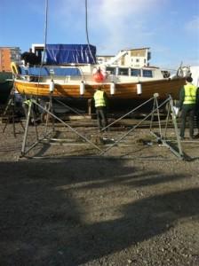 Koppling träsbåt